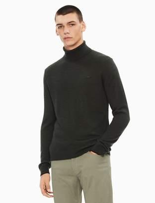 Calvin Klein regular fit solid turtleneck sweater