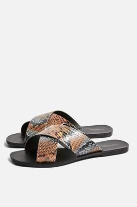Topshop Snake Design Sandals