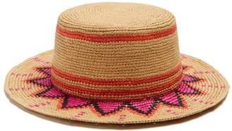 Sensi Studio - 2033 Woven Straw Hat - Womens - Pink Multi