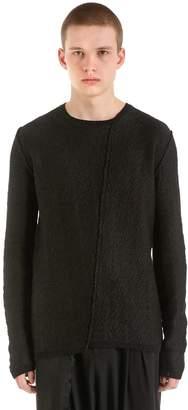 Isabel Benenato Reversed Cotton Linen Jacquard Sweater