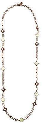 Tory Burch Faux Pearl & Crystal Station Necklace