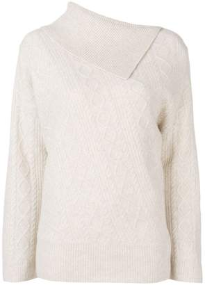 Pringle asymmetrical collar sweater