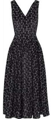 Co Metallic Broderie Anglaise Velvet Midi Dress