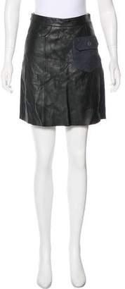 AllSaints Leather Mini Skirt w/ Tags