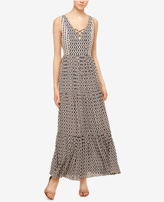 Sanctuary Audrey Printed Lace-Up Maxi Dress $139 thestylecure.com