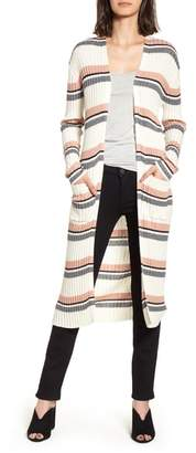 BP Stripe Midi Open Cardigan