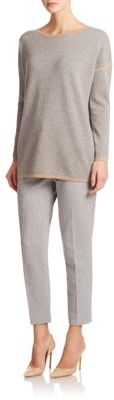 Max MaraOsaka Wool Cashmere Contrast Trim Sweater