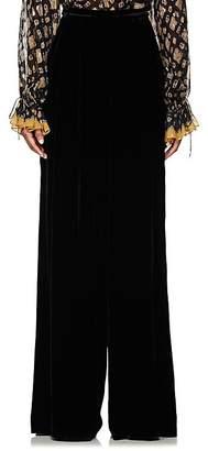 Ulla Johnson Women's Rhett Velvet Wide-Leg Pants