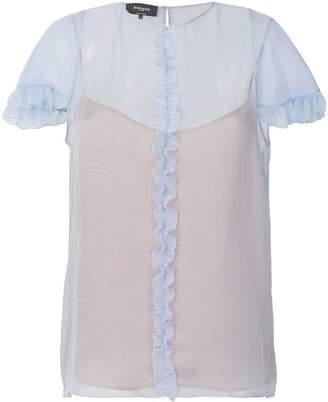 Rochas ruffled trim blouse