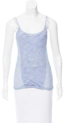 Nina Ricci Sleeveless Feather-Trimmed Top w/ Tags