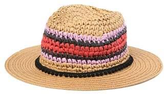 Steve Madden Panama Stripe Pompom Band Hat