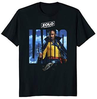 Star Wars Han Solo Movie Lando Letter Drop Graphic T-Shirt