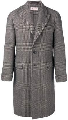 Caruso single breasted check coat