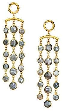 Nest Women's 22K Goldplated & Pyrite Tassel Earrings