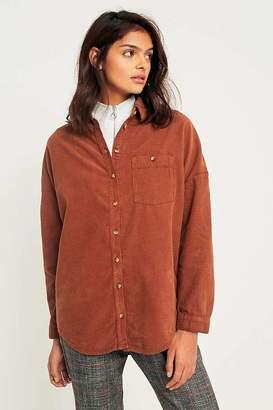 BDG Corduroy Dolman Sleeve Button-Down Shirt