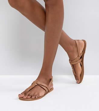 Asos (エイソス) - Asos Design ASOS FEELS Leather Flat Sandals