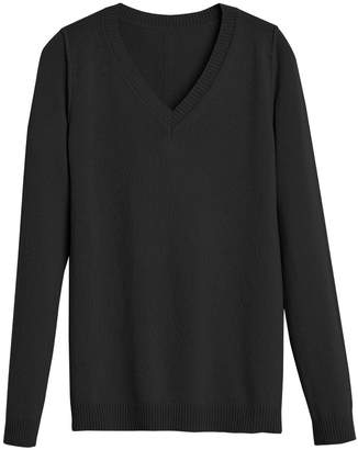 Wool Cashmere Slim V-Neck Sweater