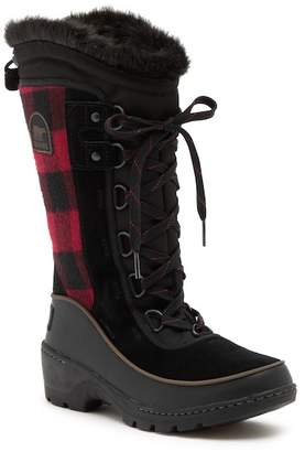 Sorel Tivoli III High Plaid Waterproof Faux Fur Cuff Boot