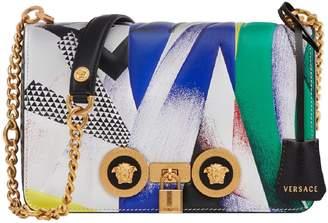 Versace Tribute Print Leather Shoulder Bag