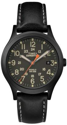 Timex Expedition Scout 36 Black Watch, Leather Strap