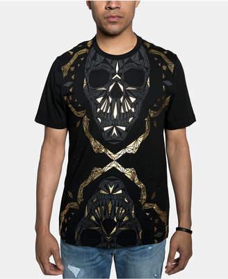 Sean John Men Dual Skull Metallic Graphic T-Shirt