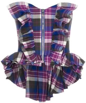 Natasha Zinko zip front check corset top