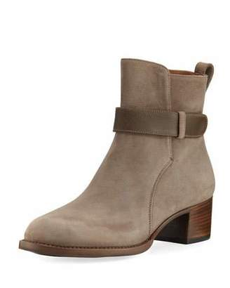 Gravati Suede Booties with Accent Strap