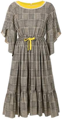 Fendi flared checked dress