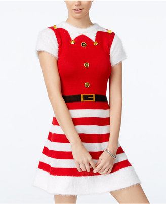 Planet Gold Juniors' Elf Holiday Sweater Dress $49 thestylecure.com