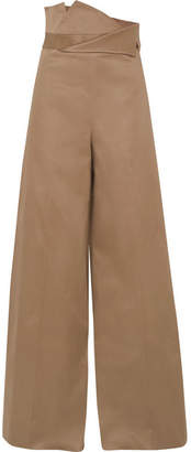 Monse Cotton-blend Wide-leg Pants - Tan