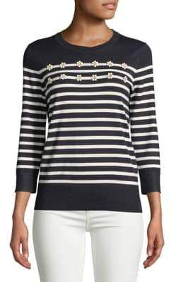 Tommy Hilfiger Embellished Stripe Sweater