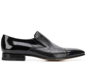 Moreschi contrast toe loafers