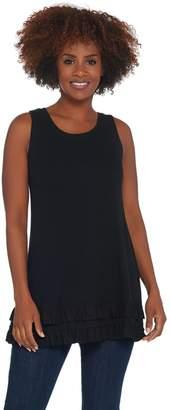 Logo By Lori Goldstein LOGO Layers by Lori Goldstein Rib Knit Tank Top with Ruffle Hemline