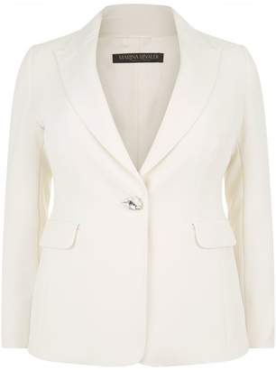 Marina Rinaldi Embellished Button Blazer