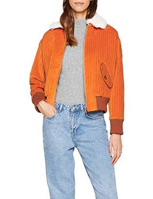 Paul & Joe Women's Iajugas Bomber Jacket, (Orange 06), (Size: 38)