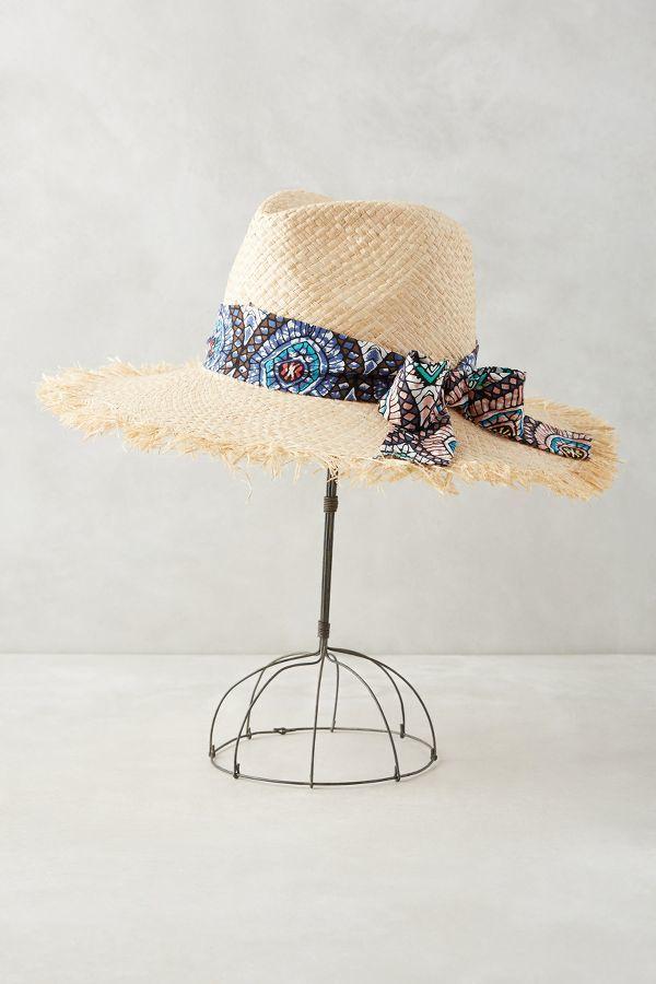 Anthropologie frayed raffia rancher hat - Kidshome palma ...