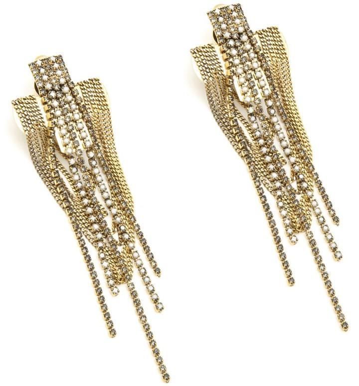 Nicole Miller Nicole Romano Chain Cross Earrings