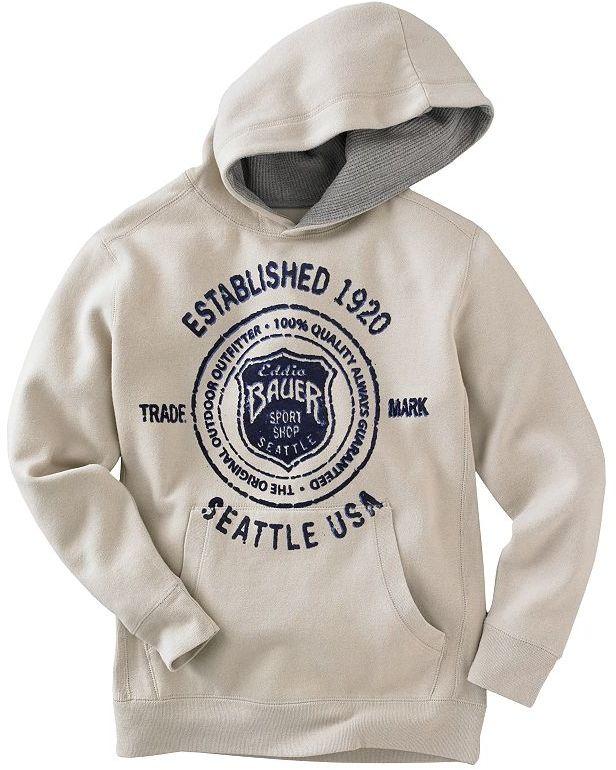 Eddie Bauer logo seal hoodie - boys 8-20