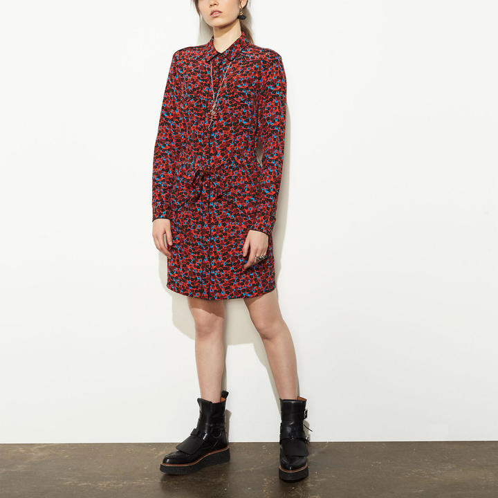 Coach   COACH Coach Piped Shirt Dress