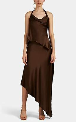Juan Carlos Obando Women's Silk Satin 2-Piece Cocktail Dress - Brown