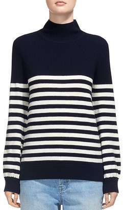 Whistles Mock-Neck Striped Sweater $230 thestylecure.com