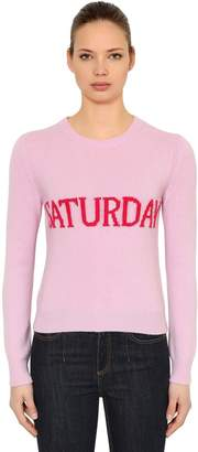 Alberta Ferretti Slim Saturday Wool & Cashmere Sweater