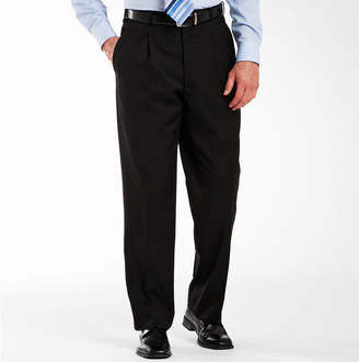 Adolfo Pleated Black Suit Pants