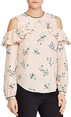 Lauren Ralph Lauren Floral-Print Cold-Shoulder Top
