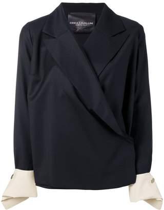 Cavallini Erika contrast cuff oversized blazer