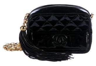 Chanel Patent Quilted Camera Bag