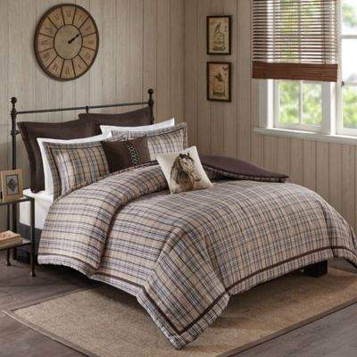 Williamsport 8-Piece Full Comforter Set in Tan