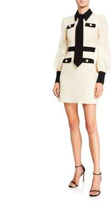 Gucci Contrast-Trim Cady Crepe Dress