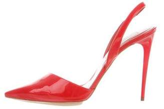 Stella McCartney Vegan Patent Leather Slingback Pumps