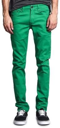 Victorious Men's Skinny Fit Color Stretch Jeans DL937 - RoyalBlue - 38/32